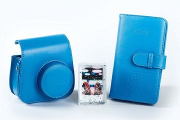 Fujifilm Instax Mini 9 Accessory Kit - Case, Album & Photo Frame - Cobalt Blue